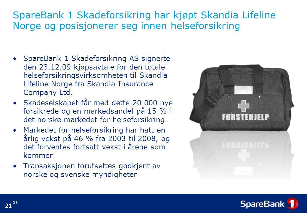 SpareBank 1 Skadeforsikring har kjøpt Skandia Lifeline Norge og posisjonerer seg innen helseforsikring