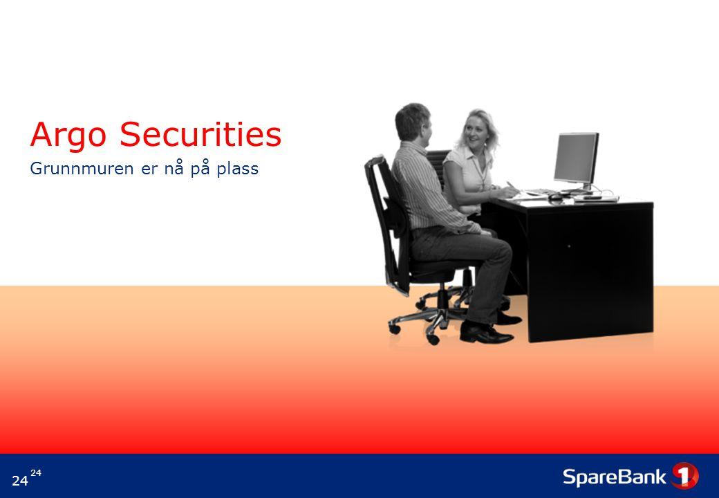 Argo Securities Grunnmuren er nå på plass