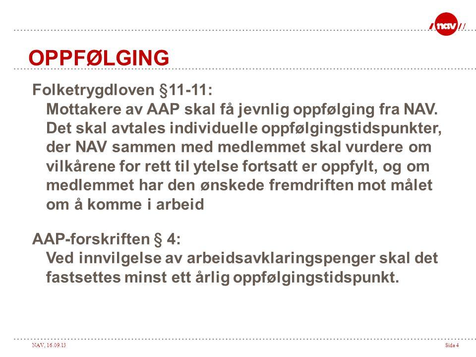 OPPFØLGING