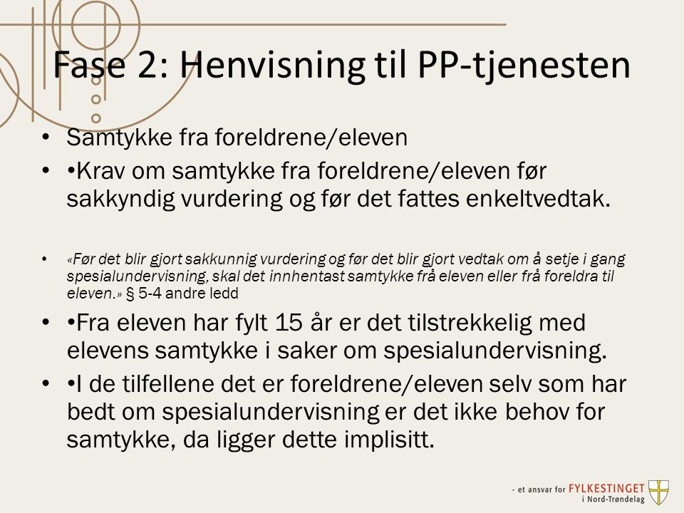 Fase 2: Henvisning til PP-tjenesten