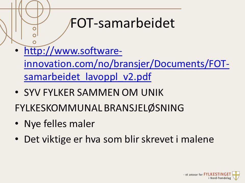 FOT-samarbeidet http://www.software-innovation.com/no/bransjer/Documents/FOT-samarbeidet_lavoppl_v2.pdf.