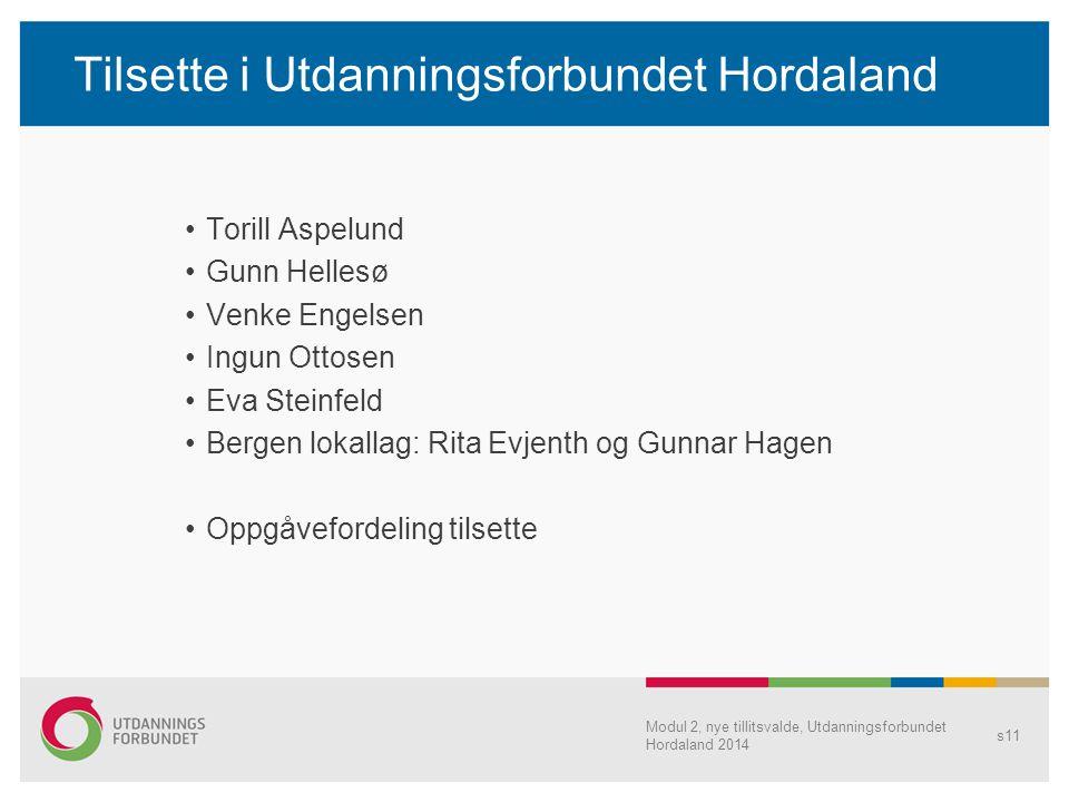 Tilsette i Utdanningsforbundet Hordaland