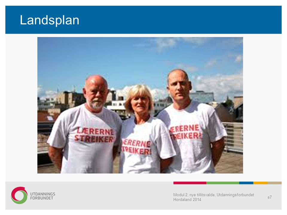 Landsplan Modul 2, nye tillitsvalde, Utdanningsforbundet Hordaland 2014