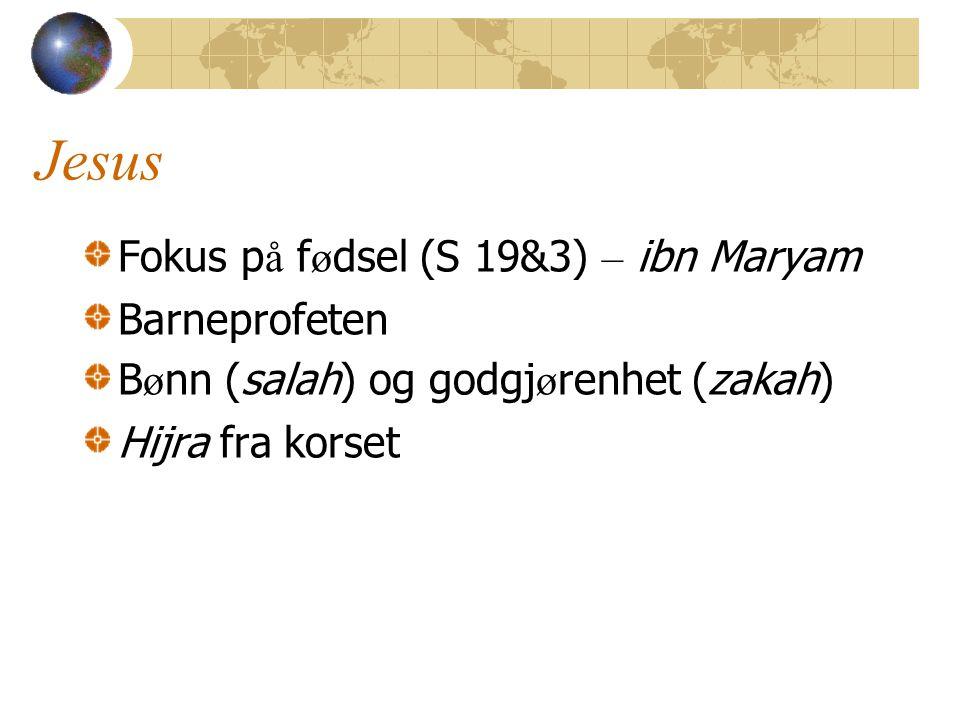 Jesus Fokus på fødsel (S 19&3) – ibn Maryam Barneprofeten