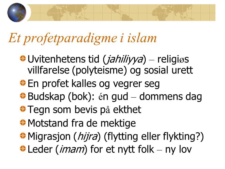Et profetparadigme i islam