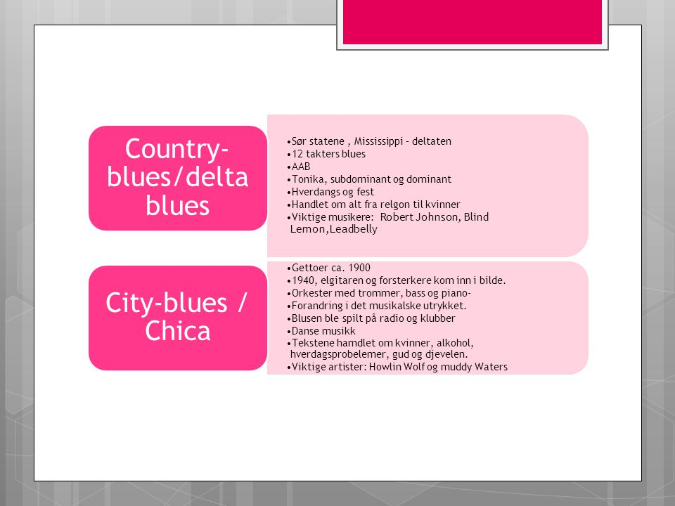 Country- blues/delta blues