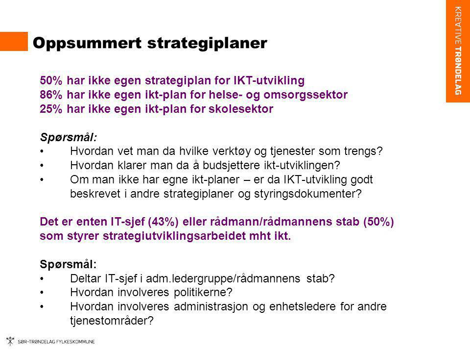 Oppsummert strategiplaner