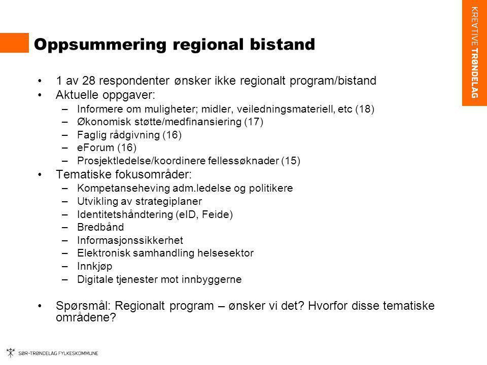 Oppsummering regional bistand