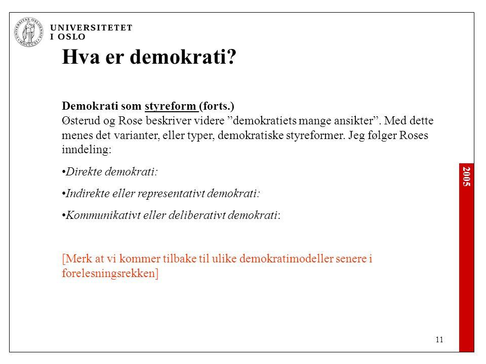 Hva er demokrati