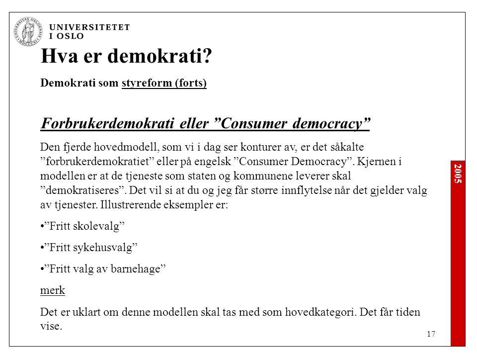 Hva er demokrati Forbrukerdemokrati eller Consumer democracy