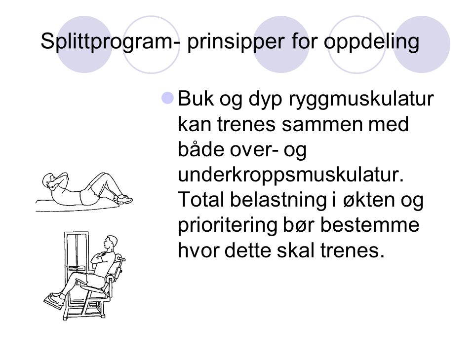 Splittprogram- prinsipper for oppdeling