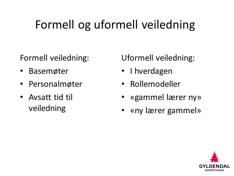 Formell og uformell veiledning