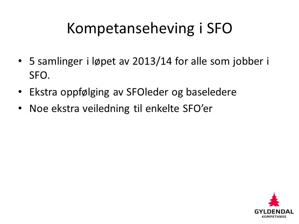 Kompetanseheving i SFO