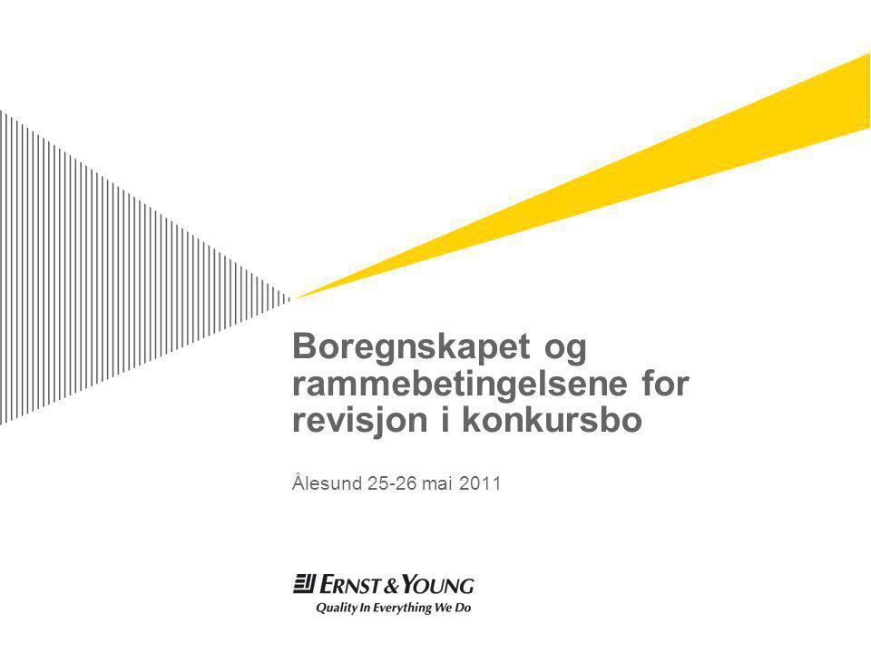 Boregnskapet og rammebetingelsene for revisjon i konkursbo