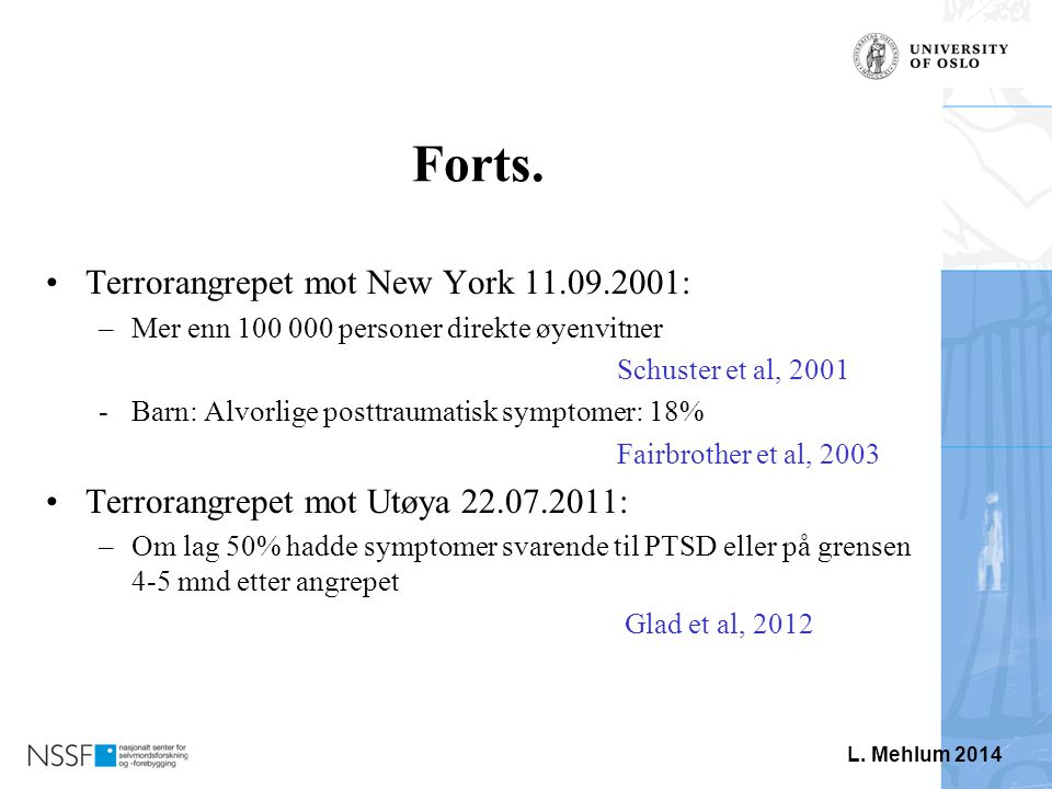 Forts. Terrorangrepet mot New York 11.09.2001: