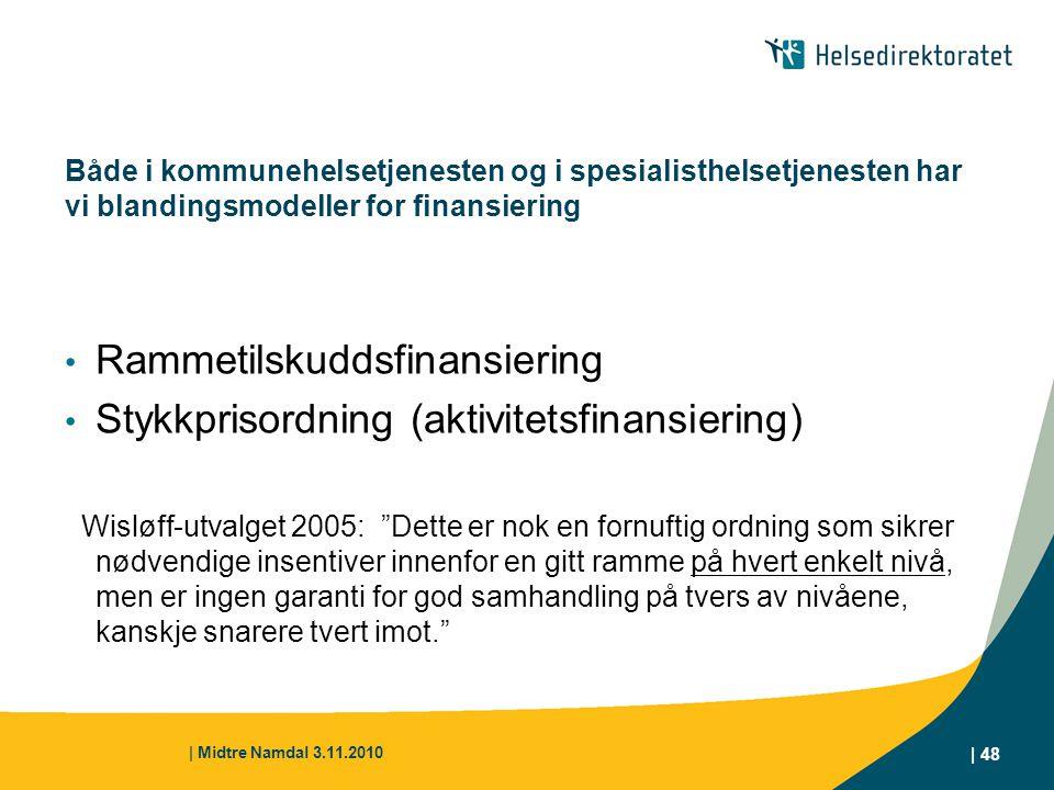 Rammetilskuddsfinansiering Stykkprisordning (aktivitetsfinansiering)