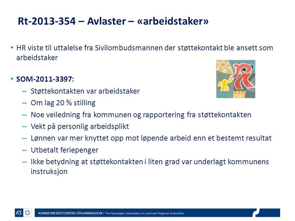 Rt-2013-354 – Avlaster – «arbeidstaker»