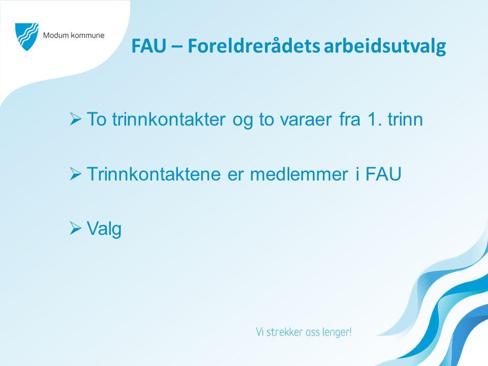 FAU – Foreldrerådets arbeidsutvalg