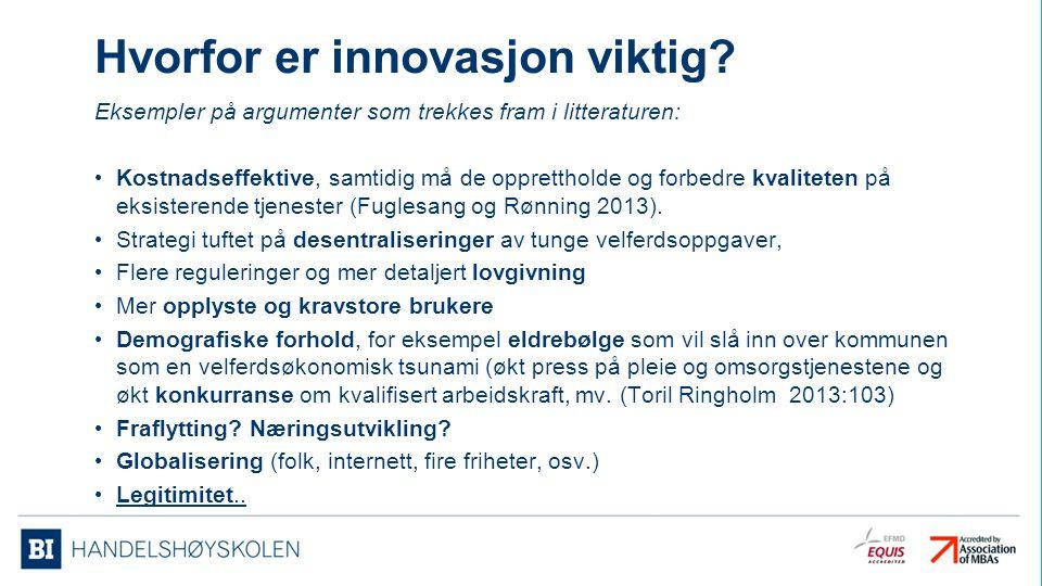 Hvorfor er innovasjon viktig