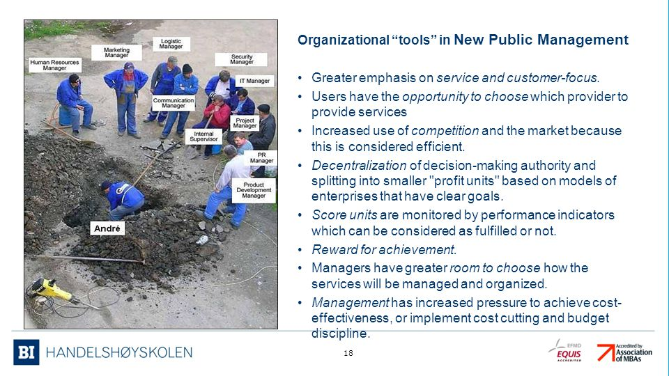 Organizational tools in New Public Management