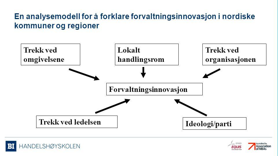 En analysemodell for å forklare forvaltningsinnovasjon i nordiske kommuner og regioner