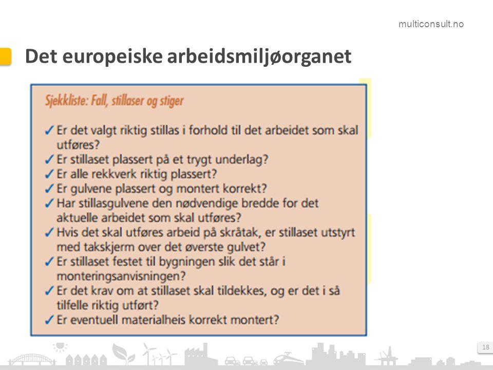 Det europeiske arbeidsmiljøorganet