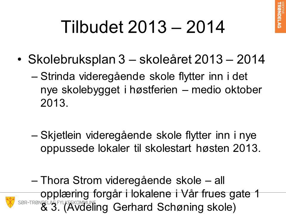 Tilbudet 2013 – 2014 Skolebruksplan 3 – skoleåret 2013 – 2014