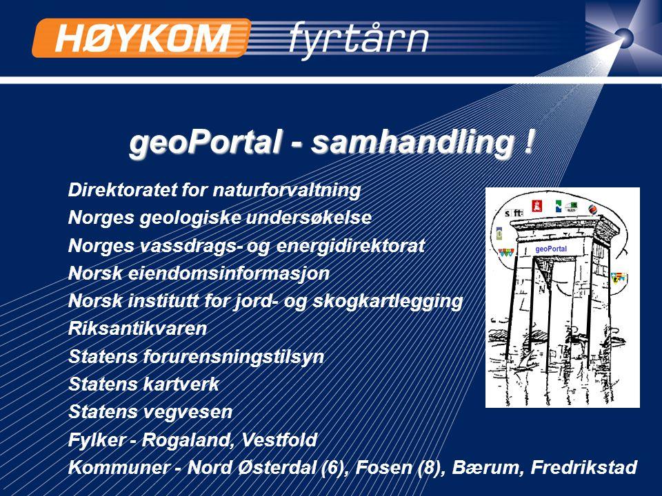 geoPortal - samhandling !