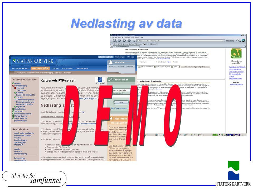 Nedlasting av data D E M O