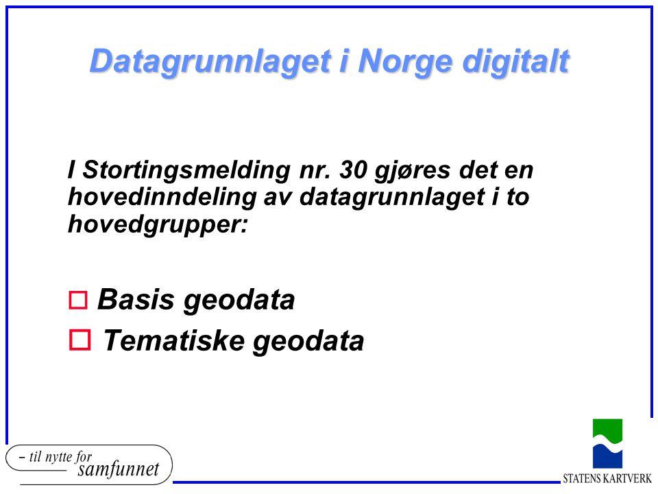 Datagrunnlaget i Norge digitalt