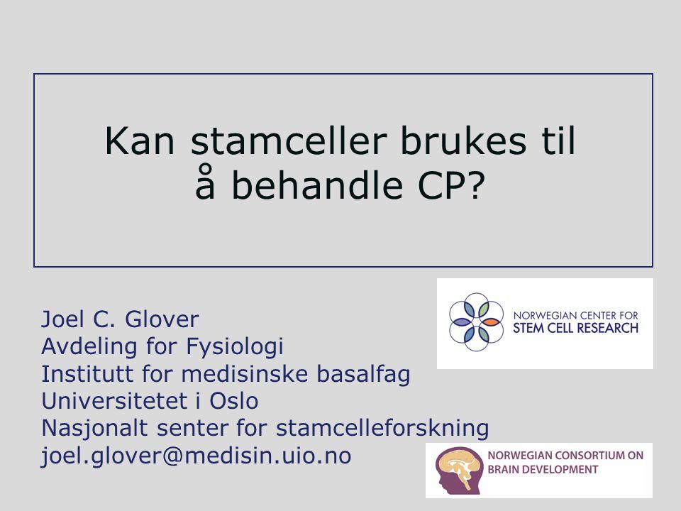 Kan stamceller brukes til å behandle CP