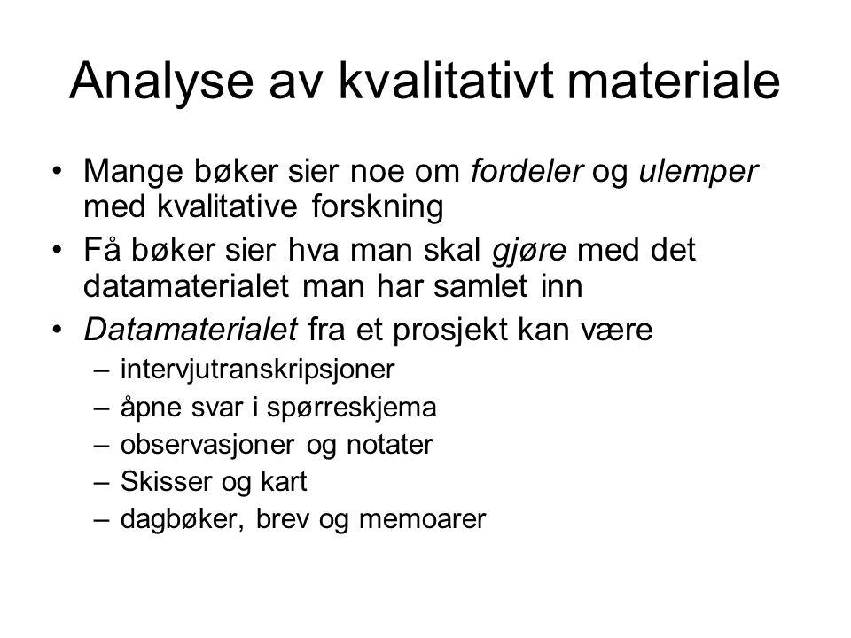 Analyse av kvalitativt materiale