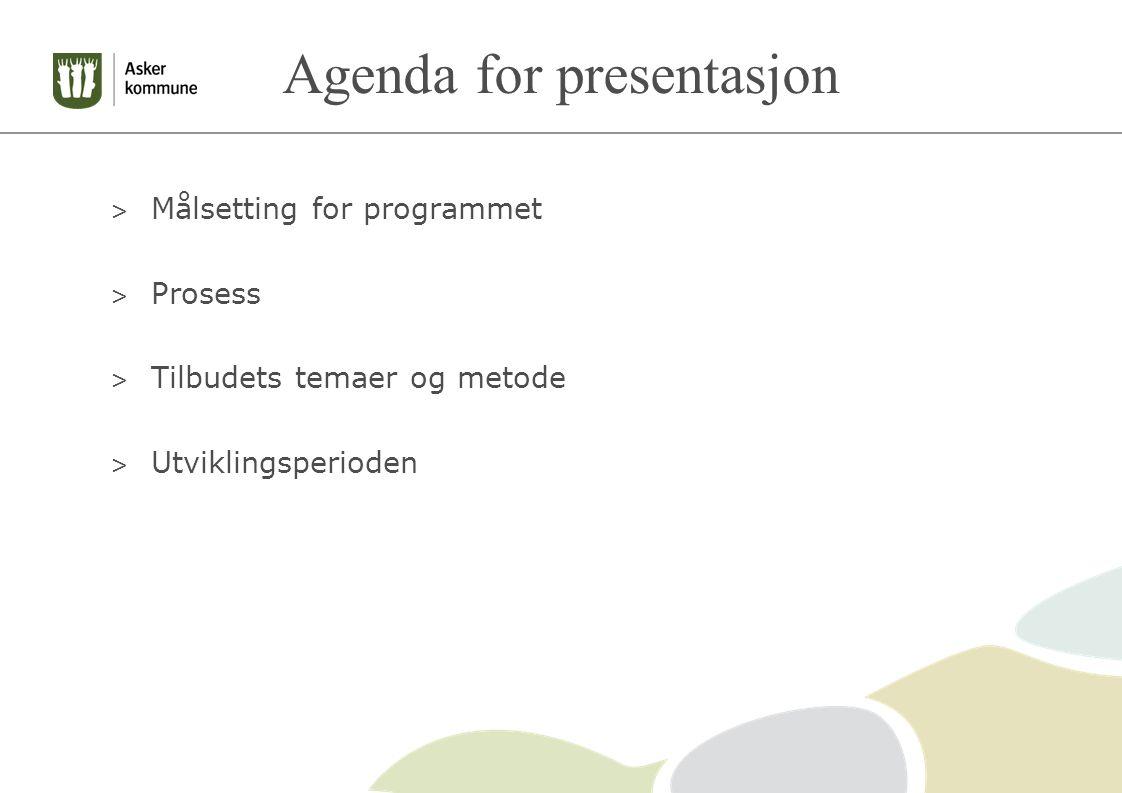 Agenda for presentasjon