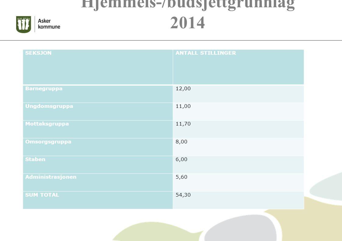 Hjemmels-/budsjettgrunnlag 2014