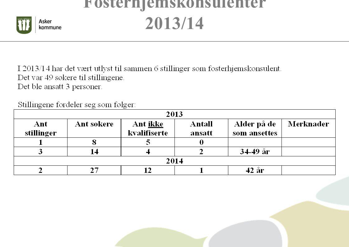 Fosterhjemskonsulenter 2013/14