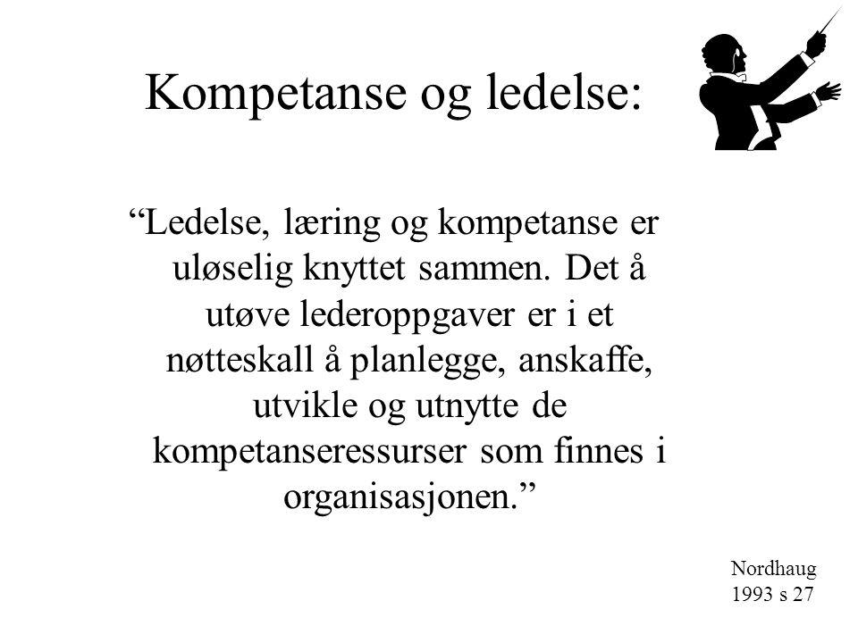 Kompetanse og ledelse:
