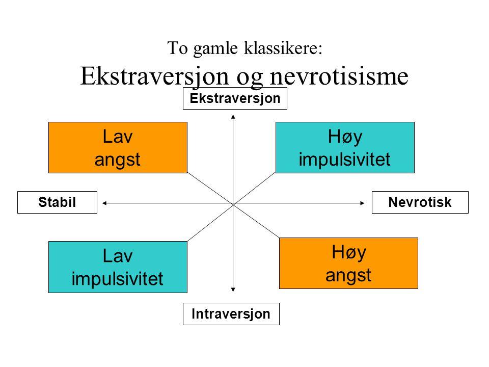 To gamle klassikere: Ekstraversjon og nevrotisisme