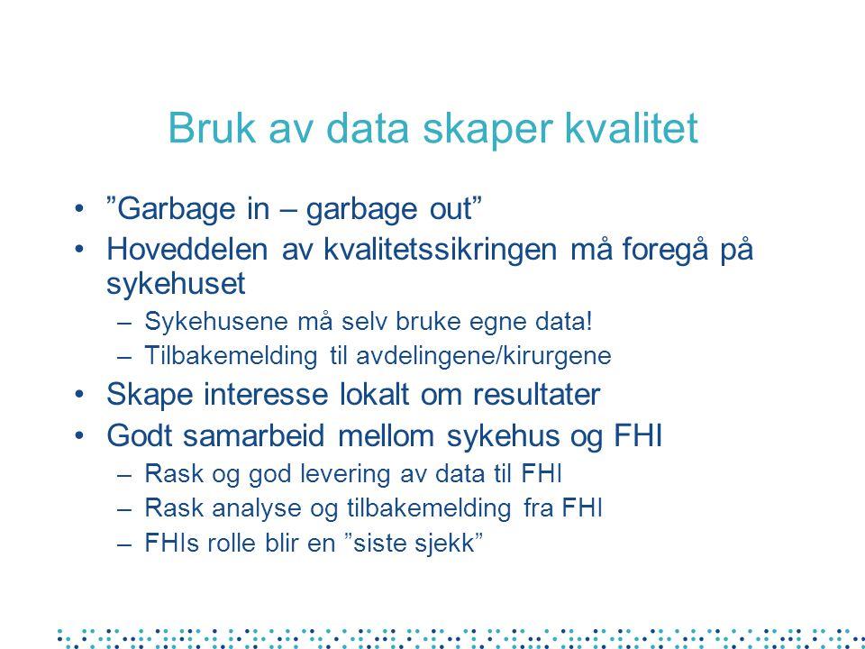 Bruk av data skaper kvalitet
