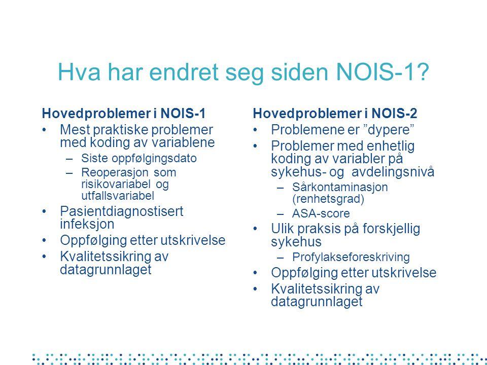 Hva har endret seg siden NOIS-1