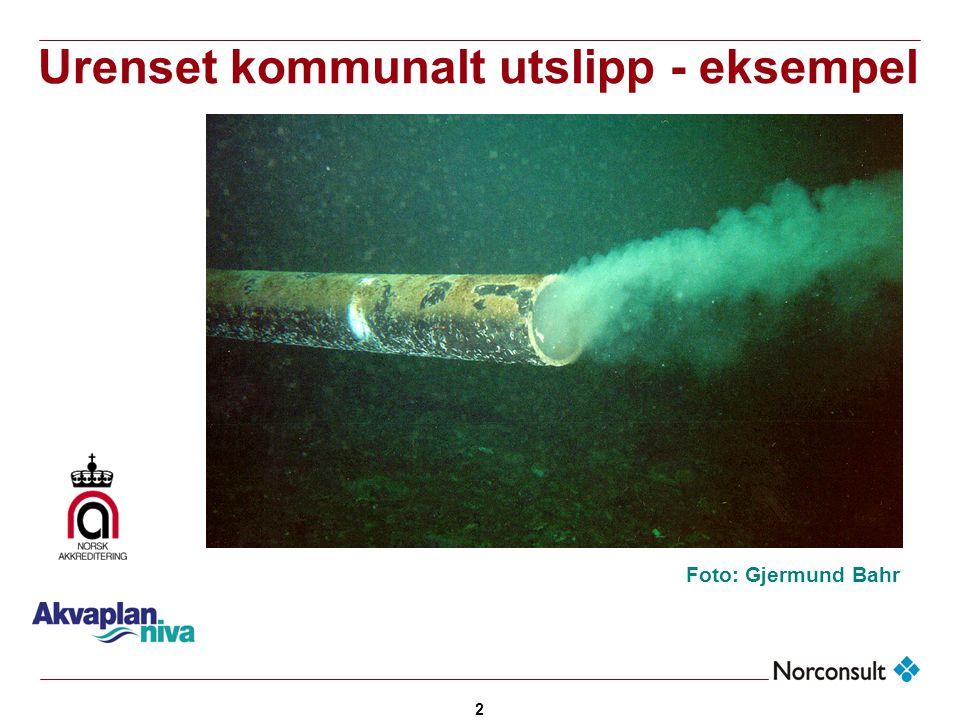 Urenset kommunalt utslipp - eksempel