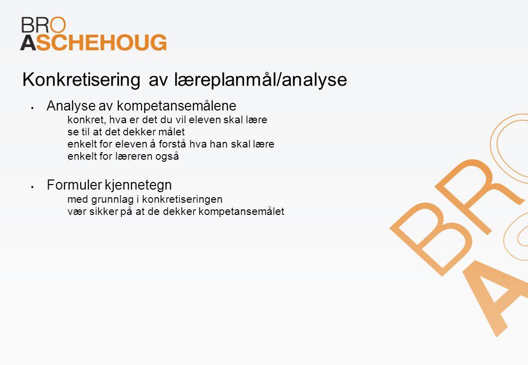 Konkretisering av læreplanmål/analyse