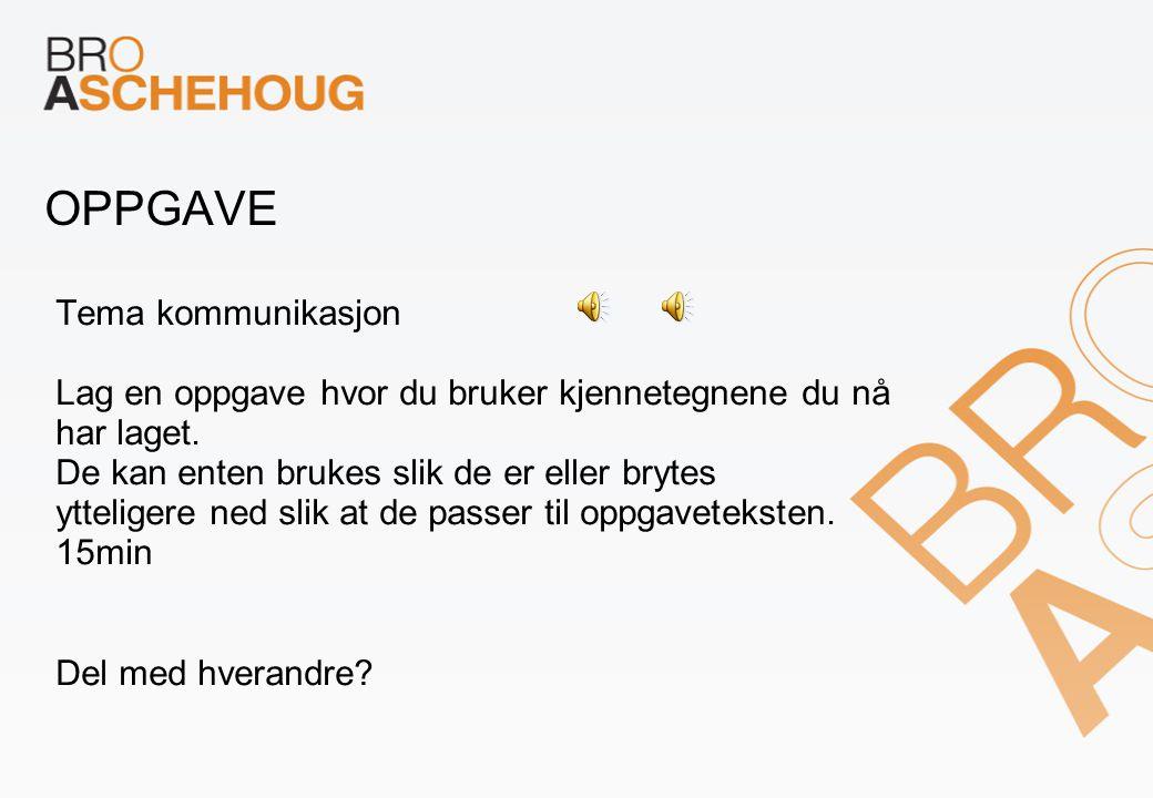 OPPGAVE Tema kommunikasjon