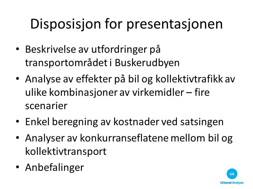 Disposisjon for presentasjonen