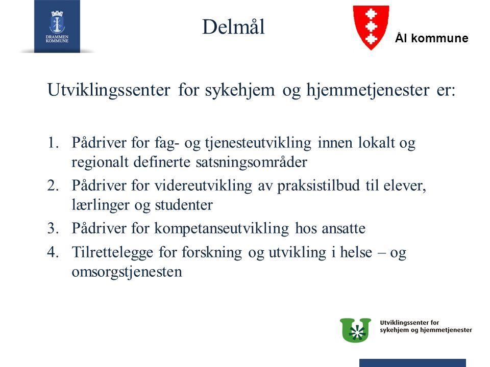 Delmål Utviklingssenter for sykehjem og hjemmetjenester er: