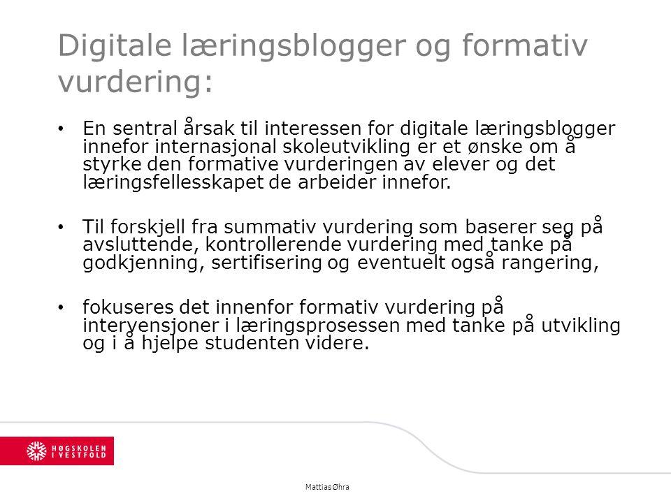 Digitale læringsblogger og formativ vurdering: