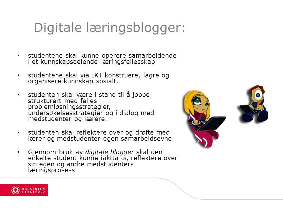 Digitale læringsblogger: