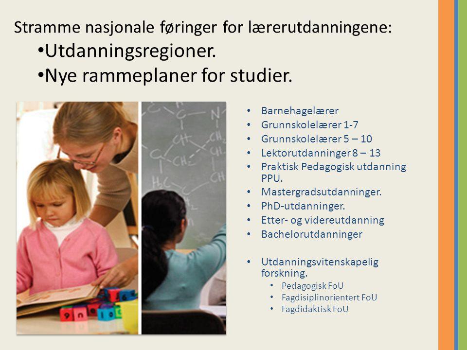 Nye rammeplaner for studier.