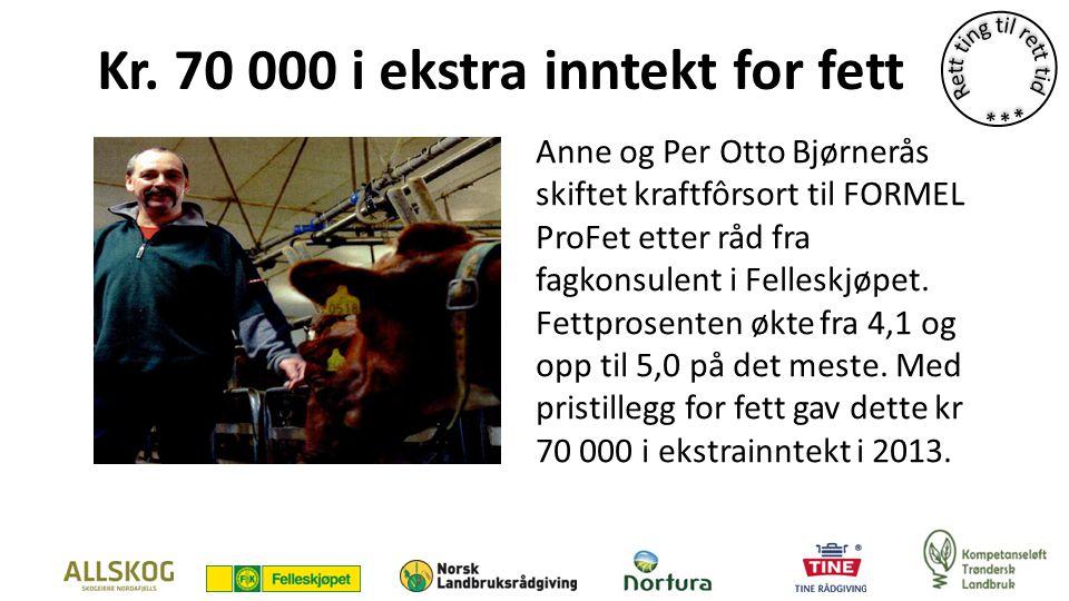 Kr. 70 000 i ekstra inntekt for fett