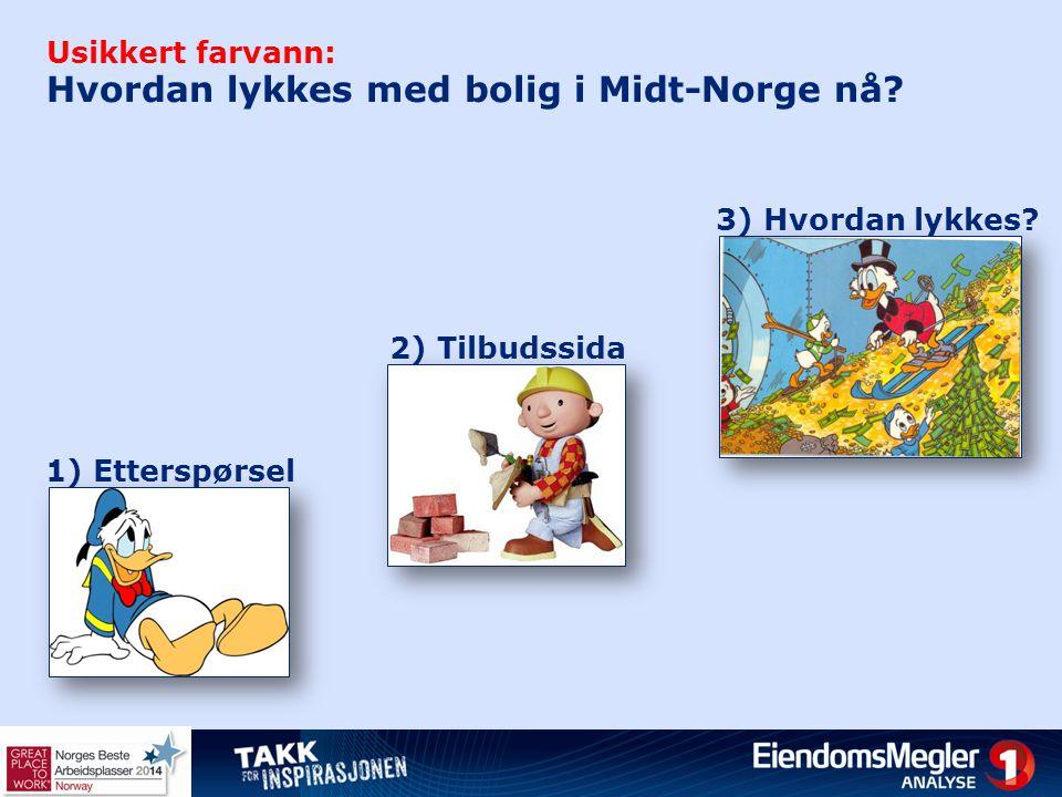 Usikkert farvann: Hvordan lykkes med bolig i Midt-Norge nå