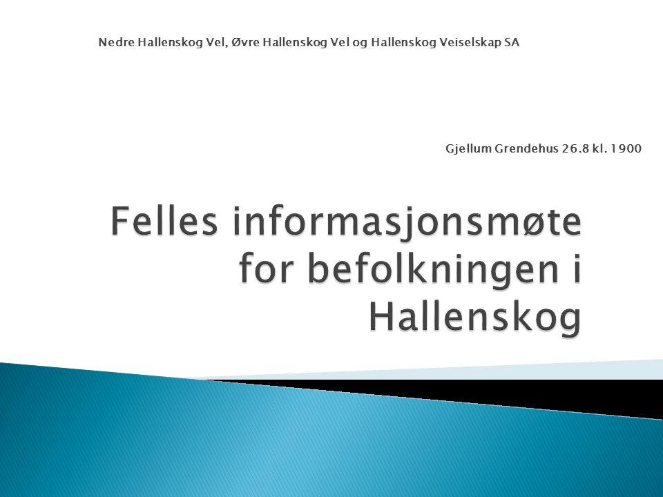 Felles informasjonsmøte for befolkningen i Hallenskog